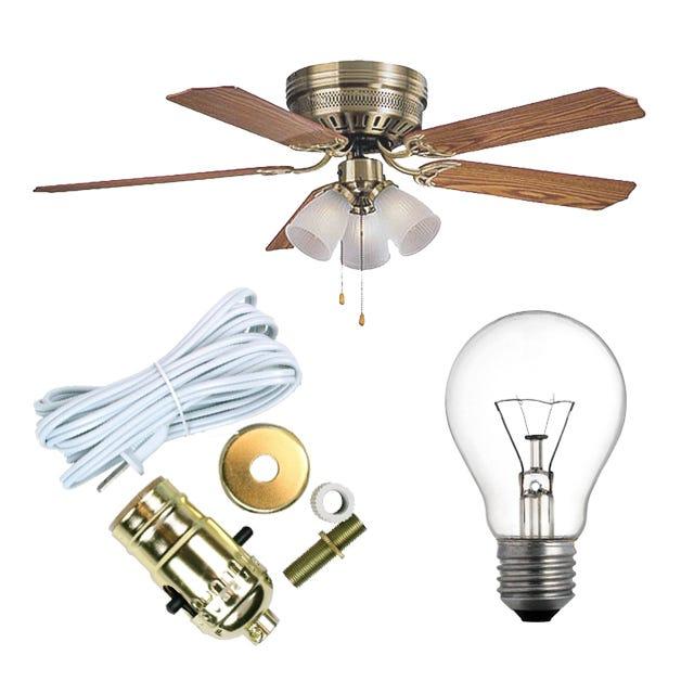 Lighting ceiling fans