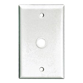 Eaton Wiring Devices 2128 Series 2128W-BOX Wallplate, 4-1/2 in L, 2-3/4 in W, 1-Gang, Thermoset, White
