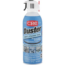 CRC DUSTER 1003746 Dust and Lint Remover, 8 fl-oz Can, Gas, Mild Petroleum, Clear