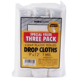Z-Pro Plastic Drop Cloths 9' X 12'