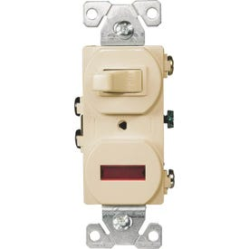 Eaton Wiring Devices 277V-BOX Combination Toggle Switch, 15 A, 120/277 V, Screw Terminal, Steel Housing Material, Ivory