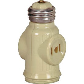Eaton Wiring Devices BP715V Socket Adapter, 660 W, 2-Outlet, Ivory