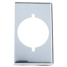 Eaton Wiring Devices 39CH-BOX Power Outlet Wallplate, 4-1/2 in L, 2-3/4 in W, 1-Gang, Chrome, Ivory/White, Chrome