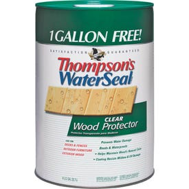 Thompson's WaterSeal TH.021806-06 Wood Protector, Clear, Liquid, 6 gal