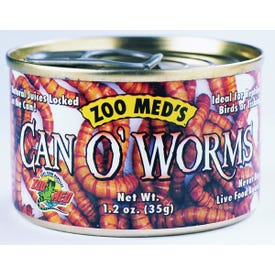 ZOO MED ZM-42 Worms, 1.2 oz Can