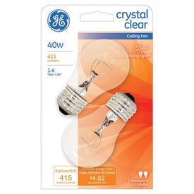 GE 44409 Light Bulb, 40 W, A15 Lamp, E26 Medium Lamp Base, 415 Lumens, 2600 K Color Temp, Soft White Light