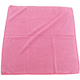 NORTON 07660706038 Cleaning Cloth, 16 in L, 16 in W, Microfiber, Red