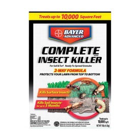 BayerAdvanced 700288S Insect Killer, Granule, Flower Bed, Ground Cover, Home, Lawn, Trees and Shrubs, 10 lb