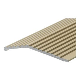 Frost King H591FB/3 Carpet Bar, 3 ft L, 1-3/8 in W, Fluted Surface, Aluminum, Gold, Satin