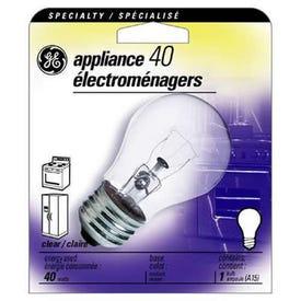 GE 15206 Light Bulb, 40 W, A15 Lamp, E26 Medium Lamp Base, 415 Lumens, 2700 K Color Temp, Soft White Light