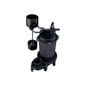 Flotec FPCI5050 Submersible Sump Pump, 120 V, 0.5 hp, 1-1/2 in Outlet, 4700 gph, Cast Iron/Zinc
