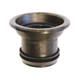 FERNCO FTS-3 Wax Free Toilet Seal, Elastomeric PVC, Black, For: 3 in Drain Pipes