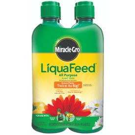 Miracle-Gro LiquaFeed 1004325 Plant Food Refill, 16 oz Bottle, Liquid, Clear Green