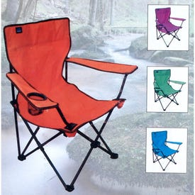 DURA 17480 Travel Pic-Nic Folding Chair, 20-1/2 in W, 20-1/2 in D, 35-1/2 in H, Black Frame, Polyester Seat