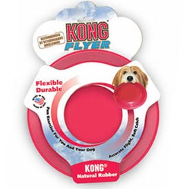 KONG Classic KF3 Dog Toy, L, Flyer, Rubber, Red