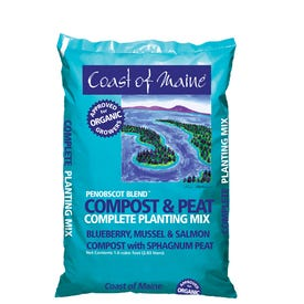 Coast of Maine 1P Penobscot Blend Compost and Peat, 1 cu-ft Bag