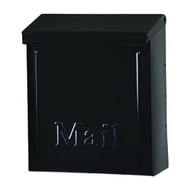 Gibraltar Mailboxes Townhouse THVKB001 Mailbox, 260 cu-in Capacity, Steel, Powder-Coated, Black, 8.6 in W