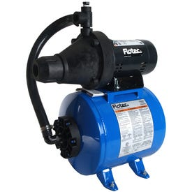 Flotec FP401215H-10 Jet and Tank System, 9.4 A, 115, 230 V, 0.5 hp, 1-1/4 in Connection, 8 gpm, Thermoplastic