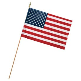 Valley Forge USE4D USA Stick Flag Display, Polycotton