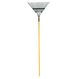RUGG® Leaf Rake 22 Sring Steel Tines 54 Wood Handle