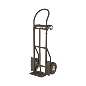 Simple Spaces YY-600-2 Hand Truck, 800 lb Weight Capacity, 14 in W x 7-3/4 in D Toe Plate, Black