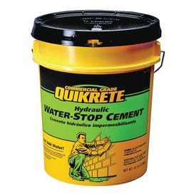 Quikrete 1126-50 Hydraulic Cement, Gray, Solid, 50 lb Pail