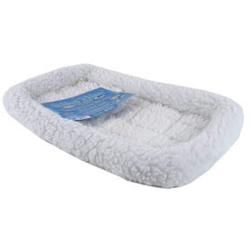 MIDWEST PRODUCTS Quiet Time 40222 Pet Bed, 22 in L, 13 in W, Polyester Fill, Synthetic Sheepskin Cover