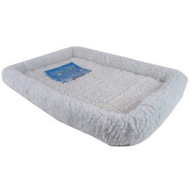 MIDWEST PRODUCTS Quiet Time 40230 Pet Bed, 30 in L, 21 in W, Polyester Fill, Synthetic Sheepskin Cover