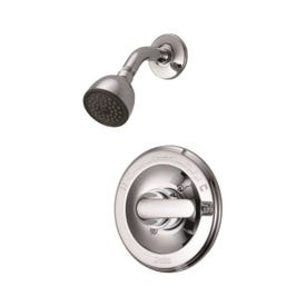 Peerless 132900 Shower Faucet, 2 gpm, 2-5/8 in Showerhead, Brass, Chrome, Lever Handle, 1-Handle