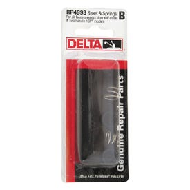DELTA RP4993 Seat and Spring Kit, Resin, For: Bathroom, Kitchen and Tub and Shower Faucets