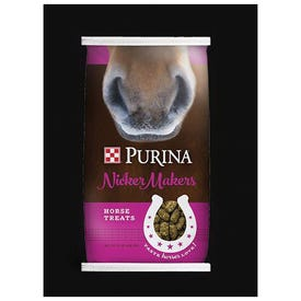 Purina Nicker Makers 3003256-746 Horse Treat, Extruded, 3.5 lb Bag