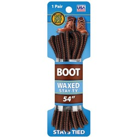 Shoe Gear 1N311-14 Boot Lace, Round, Black/Brown, 54 in L