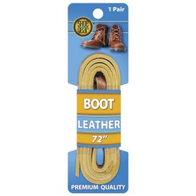 Shoe Gear 1N314-32 Boot Lace, Leather, Tan, 72 in L