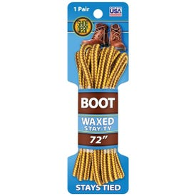 Shoe Gear 1N311-02 Boot Lace, Round, Brown/Gold, 72 in L