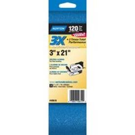 NORTON 49610 Sanding Belt, 3 in W, 21 in L, 120 Grit, Fine, Zirconia Aluminum Abrasive