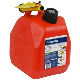 Scepter 07378 Gas Can, 2.5 gal Capacity, Polyethylene, Red