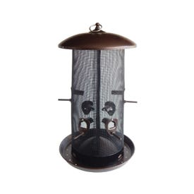 Stokes Select 38113 Wild Bird Feeder, 8.4 qt Seed, Copper/Stainless Steel, Black