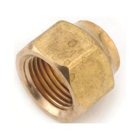Anderson Metals 754018-06 Flare Nut, 3/8 in, Flare, Brass