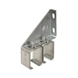 National Hardware N104-752 Adjustable Box Rail Splice Bracket, Steel, Galvanized