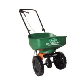 Scotts Turf Builder 76121 Broadcast Spreader, 5000 sq-ft Coverage Area, 5 ft W Spread, Plastic