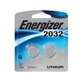 Energizer 2032BP-2 Coin Cell Battery, CR2032 Battery, Lithium, Manganese Dioxide, 3 V Battery