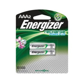 Energizer NH12BP-2 Rechargeable Battery, 1.2 V Battery, 850 mAh, AAA Battery, Nickel-Metal Hydride, Black