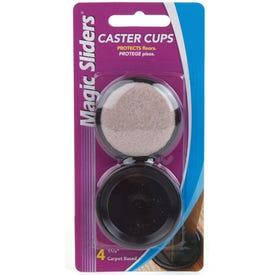 MAGIC SLIDERS 30715 Caster Cup, Round, Aluminum, 1-5/8 in Dimensions