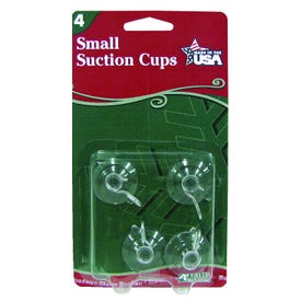 Adams Clear Small Suction Cup 1 1/4'' 4Pk