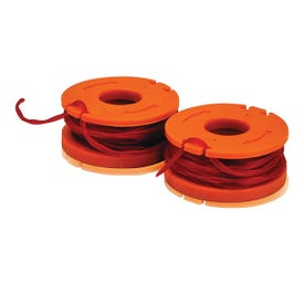 WORX WA0004.M1 Trimmer Line, 0.065 in Dia, Synthetic Co-Polymer Nylon Resin, Orange