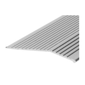 Frost King H1591FS6 Carpet Bar, 6 ft L, 2 in W, Fluted Surface, Aluminum, Silver, Satin