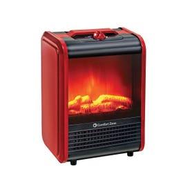 Cranbury CZFP1 Fireplace Heater, 750, 1500 W, 2-Heat Setting, Red