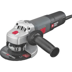 PORTER-CABLE PCE810 Angle Grinder, 120 V, 6 A, 1500 W, 5/8-11 Spindle, 4-1/2 in Dia Wheel, 11,000 rpm Speed