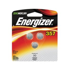 Energizer 357BPZ-3 Coin Cell Battery, 1.5 V Battery, 150 mAh, 357 Battery, Silver Oxide