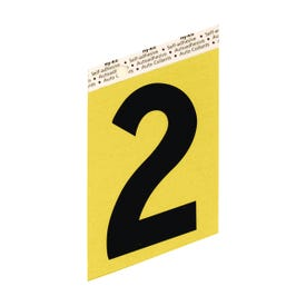 HY-KO GG-25/2 House Number, Character: 2, 3-1/2 in H Character, Black Character, Gold Background, Aluminum